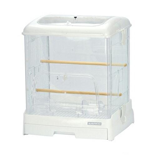 三晃商会 SANKO イージーホーム クリアバード 35 ホワイト(360×340×430) 鳥 ケージ 鳥かご 関東当日便