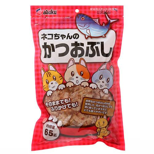 アスク ネコちゃんの かつおぶし 65g キャットフード おやつ 関東当日便