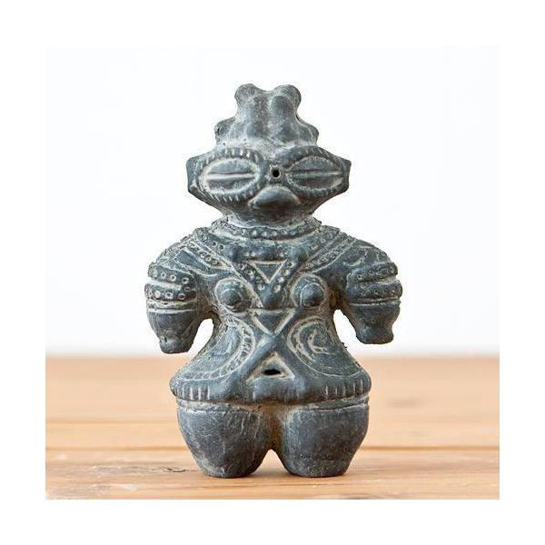 ハニワの土偶 (炭化)(高さ11.7cm) 関東当日便