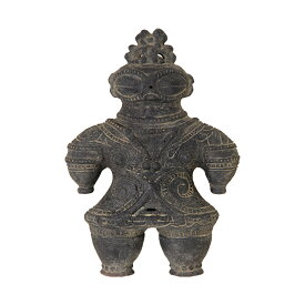 ハニワの土偶 (炭化)(高さ27cm) 関東当日便