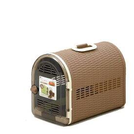 リッチェル コロル籐あみ調キャリー 44 茶 小型犬 猫 うさぎ キャリーケース キャリーバッグ(5kgまで) 関東当日便