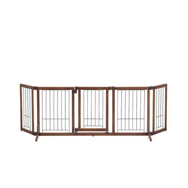 (大型)リッチェル 木製おくだけドア付ゲート L 別途大型手数料・同梱不可・代引不可 犬 サークル