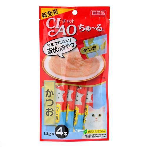 いなば CIAO(チャオ) ちゅ〜る かつお 14g×4本 猫 おやつ いなば CIAO チャオ ちゅーる 関東当日便