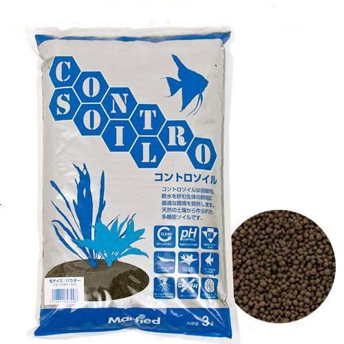 水質調整底床 コントロソイル パウダー 3リットル 熱帯魚 用品 関東当日便
