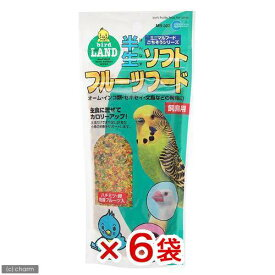 マルカン 半生ソフトフルーツフード 100g 飼鳥用 鳥 おやつ フルーツ 6袋入り 関東当日便