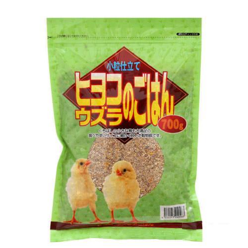 アラタ ヒヨコ・ウズラのごはん 小粒仕立て 700g 配合飼料 鳥 エサ 関東当日便
