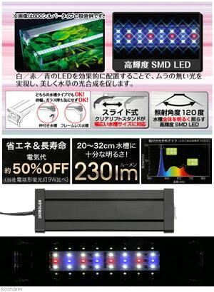 コトブキkotobukiフラットLED2032ブラック20〜32cm水槽用照明・LEDライト関東当日便