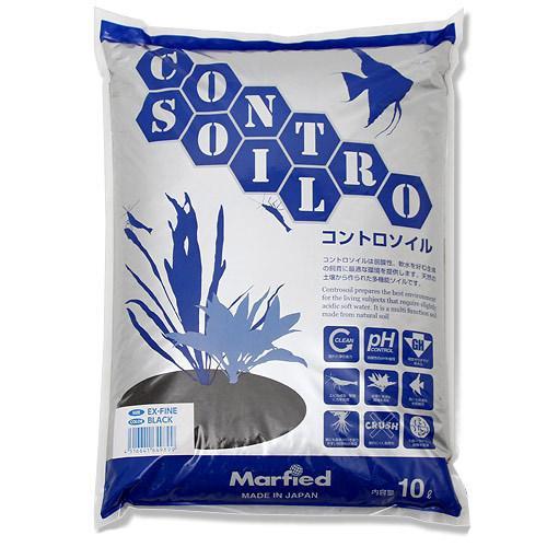 お一人様2点限り 水質調整底床 コントロソイル スーパーパウダー 10リットル(黒) 熱帯魚 用品 関東当日便