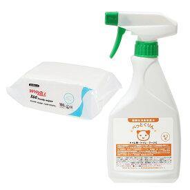 弱酸性消臭除菌水 ぺっとくりん 猫用 500ml + ワイプオール X60 ハンディーワイパー セット 関東当日便