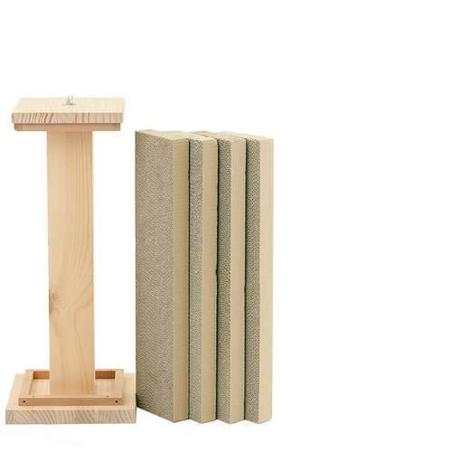 猫 爪とぎ(つめとぎ) カリカリくんタワーセット カリカリくんタワー(木枠)+カリカリくん4枚 猫の爪みがき 関東当日便