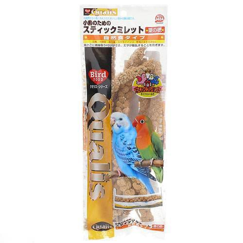 クオリス スティックミレット 6本入り(粟の穂) 鳥 フード 餌 えさ 粟(あわ) 関東当日便