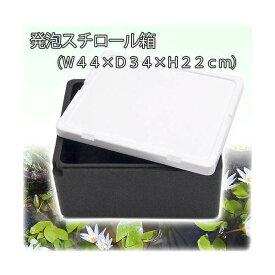 発泡スチロール箱 本体(黒)とフタ(白)のセット(幅43×奥行き35×高さ22cm) お一人様2点限り 関東当日便