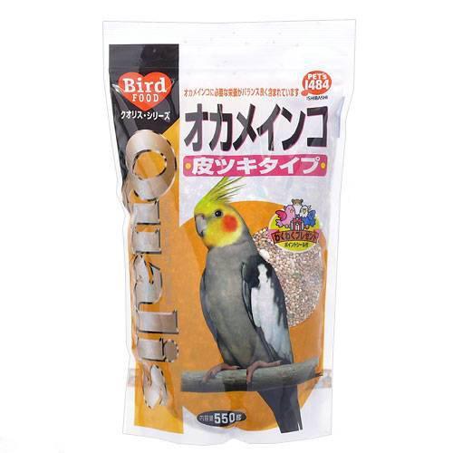 クオリス オカメインコ(皮ツキタイプ) 550g 鳥 フード 餌 えさ 種 穀類 4袋入り【HLS_DU】 関東当日便