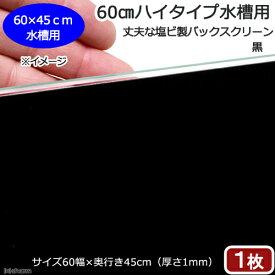60cmハイタイプ水槽用 丈夫な塩ビ製バックスクリーン 60×45cm 黒 関東当日便