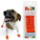 Pawz ラバードッグブーツ XS オレンジ 犬用 ゴム製使い捨てブーツ 靴 くつ 肉球保護 関東当日便
