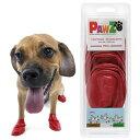 Pawz ラバードッグブーツ S レッド 犬用 ゴム製使い捨てブーツ 靴 くつ 肉球保護 関東当日便