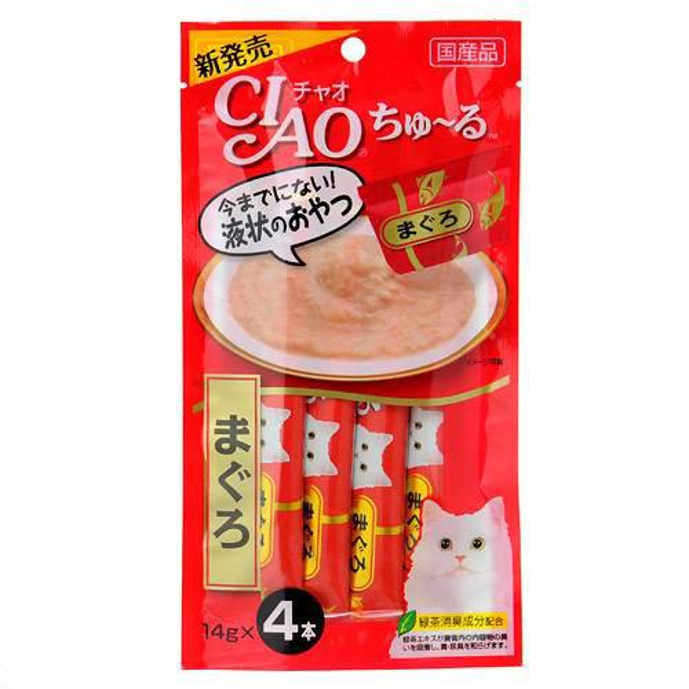 いなば CIAO(チャオ) ちゅ〜る まぐろ 14g×4本 6袋入り 猫 おやつ CIAO チャオ ちゅーる 関東当日便