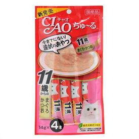 いなば CIAO(チャオ) ちゅ〜る 11歳からのまぐろ・かつお 14g×4本 6袋入り 関東当日便