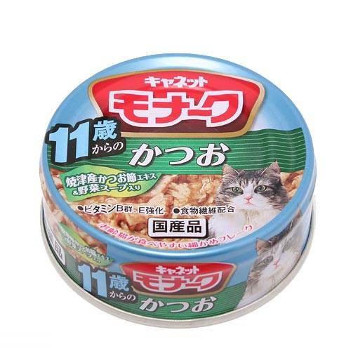 キャネット モナーク 缶 11歳からのかつお 80g 6缶入り 超高齢猫用 関東当日便