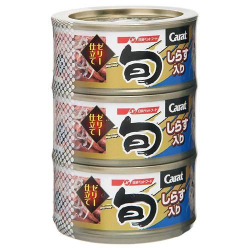 箱売り キャラット・旬 しらす入り 80g×3 ゼリー仕立て キャットフード 缶詰 1箱18個入 関東当日便