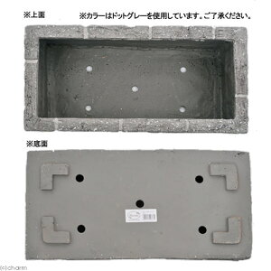 FRPレンガ調プランター600FホワイトP(W60×D30×H25cm)関東当日便