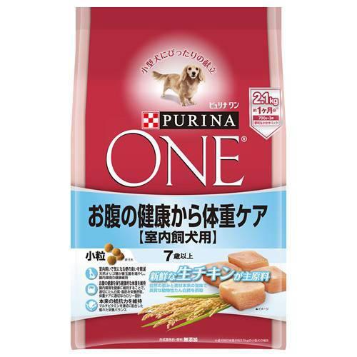 ピュリナワンドッグ 7歳以上 室内飼犬用 お腹の健康から体重ケア 小粒 チキン 2.1kg 犬フード シニア犬 高齢犬用 関東当日便