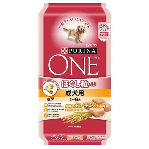 ピュリナワンドッグ ほぐし粒入り 1〜6歳 成犬用 チキン 4.2kg 犬フード お一人様5点限り 関東当日便