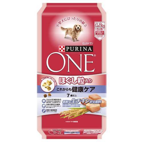 ピュリナワンドッグ ほぐし粒入り 7歳以上 これからも健康ケア チキン 4.2kg 犬フード シニア犬 高齢犬用 お一人様5点限り 関東当日便