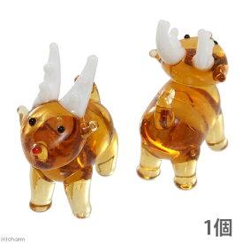 グラスコレクション トナカイ 1個 クリスマス インテリア ガラス細工 関東当日便