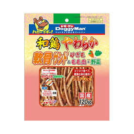 ドギーマン 和鶏やわらか軟骨サンド 砂ぎも&もも肉+野菜 120g 犬フード おやつ 関東当日便