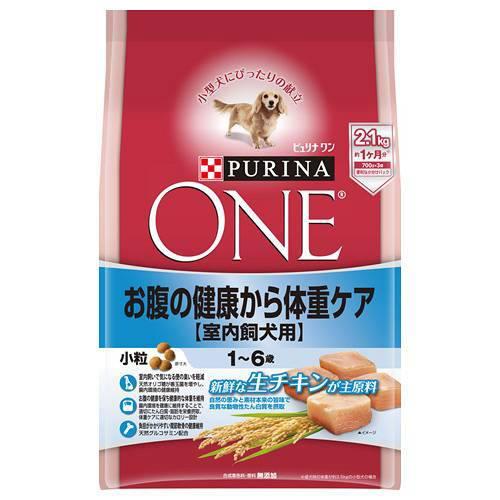 ピュリナワンドッグ 1〜6歳 室内飼犬用 お腹の健康から体重ケア 小粒 チキン 2.1kg 犬フード 4袋入 成犬用 関東当日便