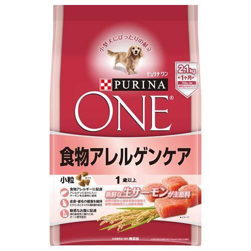 ピュリナワンドッグ 1歳以上 食物アレルゲンケア 小粒 サーモン 2.1kg 犬フード 4袋入 成犬用 関東当日便