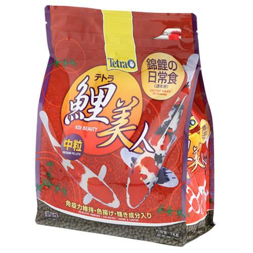 テトラ 鯉美人中粒 1kg 錦鯉 餌 飼料 浮上性 関東当日便