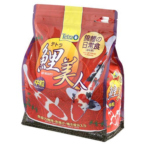 テトラ 鯉美人中粒 2kg 錦鯉 餌 飼料 浮上性 関東当日便