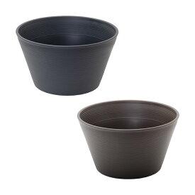 スイレン鉢 2色セット (グレー・ブラウン) 睡蓮 ハス 鉢 関東当日便