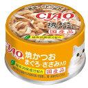いなば CIAO(チャオ) ホワイティ 焼かつお まぐろ・ささみ入り 85g キャットフード CIAO チャオ 24缶入 関東当日便
