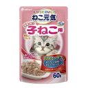 ねこ元気 総合栄養食 パウチ健康に育つ子猫用 お魚ミックス 60g 1ボール12袋入 関東当日便
