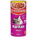 カルカンハンディ缶 1歳から ビーフ&フィッシュ 160g×3P 猫フード 成猫用 6個入り 関東当日便