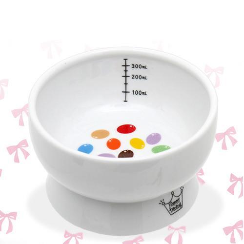 猫壱 脚付ウォーターボウル キャンディ 陶器水入れ ハッピーダイニング 犬 猫 食器 関東当日便