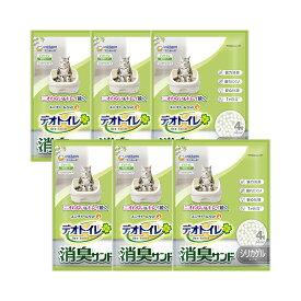 デオトイレ 消臭サンド お徳用4L 6袋入り 猫砂 シリカゲル 関東当日便