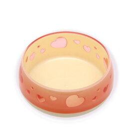 ペッツルート おいしく見えるワン食器 S ピンクハート 犬 食器 関東当日便