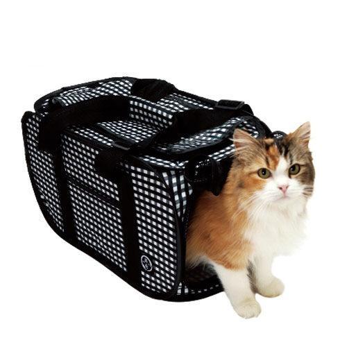 猫壱 ポータブル キャリー 黒 折りたたみ 猫 猫用キャリー(6kgまで) 関東当日便