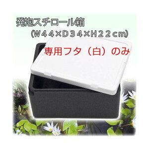 発泡スチロール箱 フタのみ フタ(白)(W44×D34×H3.5cm) お一人様1点限り 関東当日便