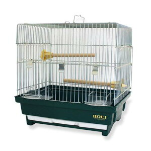 HOEIハートフルハウスSダークグリーン鳥かご飼育ケージ【HLS_DU】関東当日便