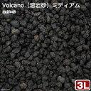 無地パッケージ Volcano(溶岩砂)ミディアム 3リットル(30cm水槽用) お一人様6点限り 関東当日便