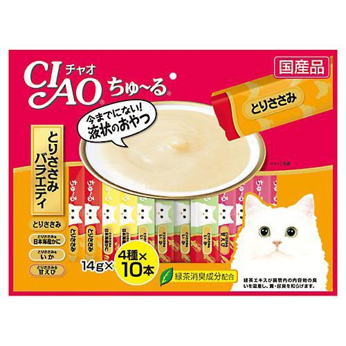 いなば CIAO(チャオ) ちゅ〜る 40本 とりささみバラエティ 14g×4種×10本 キャットフード おやつ ちゅーる 関東当日便