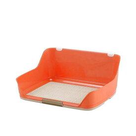 アウトレット品 同梱不可・中型便手数料 ボンビアルコン しつけるウォールトレー M オレンジ 犬 トイレ 才数170 お一人様1点限り 訳あり