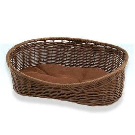 ペットプロ 手編みカラーベッド 水洗いOK M ブラウン 犬 猫 ベッド 水洗いOK お一人様3点限り 関東当日便