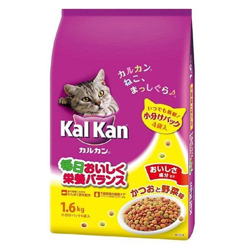 カルカン ドライ かつおと野菜味 1.6kg (小分けパック4袋入)3袋【HLS_DU】 関東当日便
