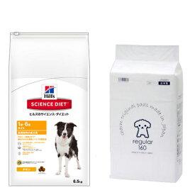 サイエンスダイエット ライト 肥満傾向の成犬用 6.5kg+国産ペットシーツ薄型レギュラー 160枚セット 関東当日便
